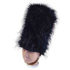 BLACK BEARSKIN TALL HAT GUARD ADULT UNISEX FANCY DRESS PARTY