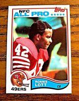 1982 Topps #486 Ronnie Lott RC - 49ers HOF
