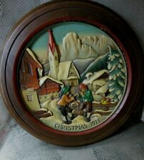 Vtg.Anri Woodcarving 1971 Christmas in St Jakob-Groden Wallhanging # 5513