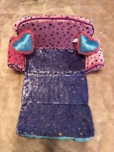 ONLY HEARTS CLUB SLEEPER SOFA Couch Furniture Doll 2005 Pink Purple