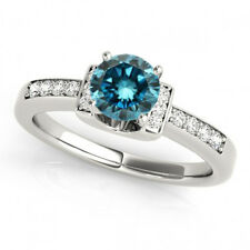 0.60 Carat Blue Diamond Fancy Ring 14k White Gold Stylish Classy Best Price Ebay