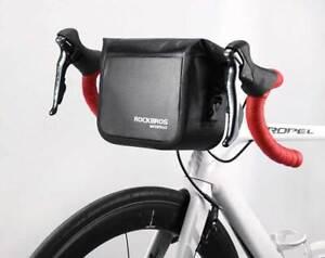 ROCKBROS Universal High Quality Waterproof 3-4L Handlebar Bag Roll-top Black