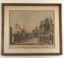 """Antique New York City lithograph """"A View from Federal Hall.  Printed in 1847."""