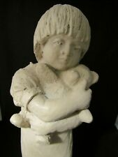 Austin Productions Girl w/ Teddy Bear Sculpture 1975 Retired Preisach