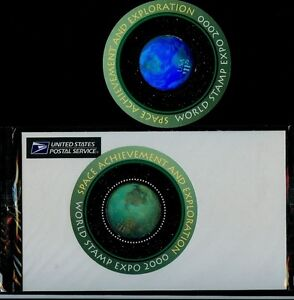 TWO Scott# 3412 $11.75 Space Achievement holograms - One in orig USPS Packaging