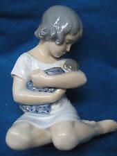 "VTG Royal Copenhagen Figurine ""GIRL HOLDING DOLL""  #1938...Excellent Cond...Rare"