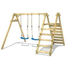 WICKEY Smart Up double wooden swing set outdoor garden playground for children