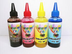 SubZone Ink 4-100ml Bottles CMYK Dye Sublimation Ink