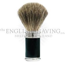 Edwin Jagger Black & Chrome Shaving Brush (Pure Badger) [BOXED, NEW]