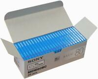 Sony MD Blank Minidisc 80 Minutes Recordable MD MDW80BC 25 disk set