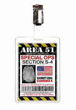 Area 51 Special Ops Alien ID Badge Card Cosplay Novelty Prop Costume Comic Con