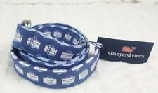 NWT BRAND NEW VINEYARD VINES MEN MV SIGNS NAVY BLUE D-RING BELT SZ LARGE L