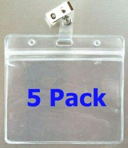 5 Vaccination Vaccine Record ID Zip Lock Zipper Card Holder 4x3 Metal Clip