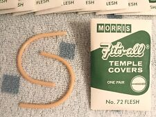 Vintage Morris Fits-All Temple Covers ~ No. 72 Flesh ~ One Pair ~ Store Stock