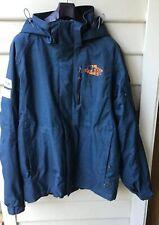 Karbon Sz 2XL Teal Jacket Ski Snowboarding 3 Extrem Zip Pockets Hood Logo EUC