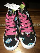 New Wt Disney Parks Girl's Size 5 Minnie Comic High Top Sneakers/ Tennis Shoes