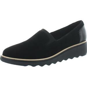 Clarks Women's Sharon Dolly Slip On Ortholite Wedge Loafer