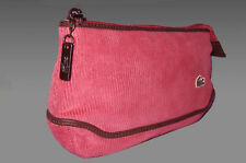 Vintage Lacoste Cosmetics Make up Bag Pouch Fashion 3 Large Cord Deep Pink