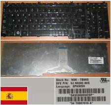 QWERTY KEYBOARD SPANISH TOSHIBA Satellite P300 MP-06876E0-920 Shiny Black