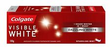 Colgate Visible White Teeth Whitening Toothpaste 100g Sparkling Mint Pack Of 3