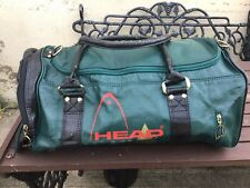 Head Black Green Monte Carlo Style Sports Gym Duffle Holdall Vintage 80s Retro