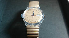 Swatch Watch, NOS Vintage, Gold Band. Swatch Wrist Watch. Cool. Mint, 1997-SMALL