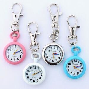 Men Women's Fashion Metal Key Ring Keychain Pendant Pocket Quartz Watch GL81K