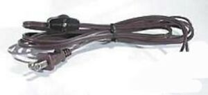 8' BROWN CORD with Inline ON/OFF ROTARY SWITCH ~ Lamp Cord & Switch