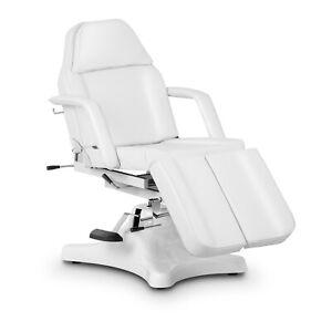 Fußpflegestuhl Fußpflegeliege Kosmetikstuhl Kosmetikliege Spa Pedikürestuhl Weiß
