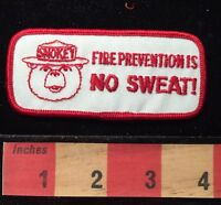 SMOKEY THE BEAR Patch ~ Forest Fire Prevention Is No Sweat C659
