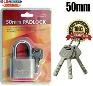 HEAVY DUTY Padlock High Security Chain Container Pad Lock 50mm Shackle HD