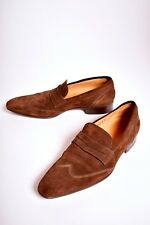 SUTOR MANTELLASSI Brown Suede Brogue Shortwing Loafer 9.5US 42.5 Made Italy