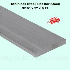 Stainless Steel Flat Bar Stock 316 X 2 X 6 Ft Rectangular 304 Mill Finish