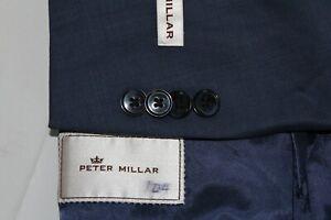 NEW PETER MILLAR 46R Wool Pick Stitch 2B 2-Vent Sport Coat Jacket