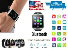 Bluetooth Big Screen Curved Smart Watch with Touch Screen Camera Text Call GSM