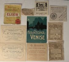 1922 Antique Advertising & Receipts from Rome Venice Italy