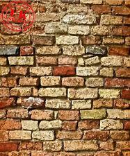 Telón de fondo de pared de ladrillo rojo wallpaper de fondo Vinilo Foto Prop 5X7FT 150x220CM
