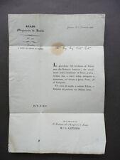 Magistrato Sanità Lettera Sanitaria Territorio Trieste Dalmazia Austriaca 1835