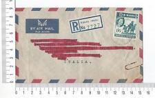 17970) Malta 1962 Registered Cover Marsa (Malta) Rome