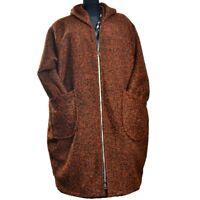 Boucle Wollemantel Mantel Lagenlook Bronze Kupfer Size 48 50 52 54 56 58 60 XXL