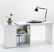 Turin White Flexible Corner Computer Desk Home Office Furniture Study Table