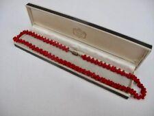 Genuine Red CORAL Vintage Necklace Fine Jewellery Gemstone Not Scrap 34.2 grams