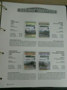 RAILWAY HERITAGE 1983 MINT STAMPS  ST LUCIA $1 $1 50C 50C