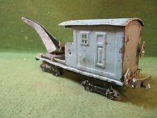 Prewar tin  crane car O gauge for parts repair restore projects, make unknown
