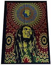 "Handmade Tapestry Bob Marley Table Cloth/Runner Wall Hanging Indian 41"" X 30"""