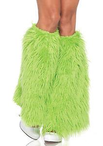 Sexy Leg Avenue Neon Green Faux-Fur Leg Warmers Costume Accessory
