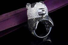 Schmuck Ring Panda Tier Motiv mit 8,88 Ct. Brillanten in Weißgold 750 18 Karat