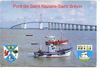 CP 44 - LOIRE-ATLANTIQUE - Pont de Saint-Nazaire - Saint-Brévin - Blasons