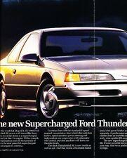 1989 Ford Thunderbird SC Folder Original Advertisement Print Art Car Ad J551