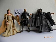 Lord of the Rings & Hobbit 7 inch range figures Gandalf & Strider group Lot 16